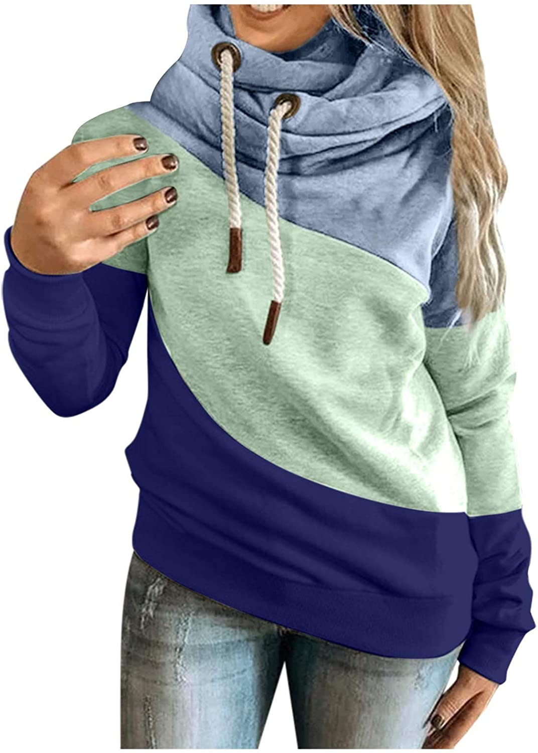 Hotkey Women's Fashion Hoodies Long Swea Hooded Neck Sleeve Mail order Manufacturer OFFicial shop Cowl