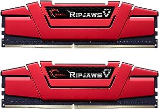 G.SKILL 16GB (2 x 8GB) Ripjaws V Series DDR4 PC4-19200 2400MHz لـ Intel X299 / Z270 / Z170 / X99 نموذج F4-2400C17D-16GVR