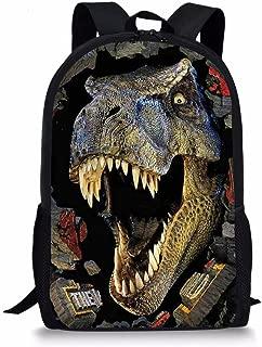 Cozeyat Crazy Dinosaur School Backpack Creative 3D Print Dayback Stylish Trex Bookbag for Boys