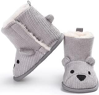 Aunavey Calcetines de Nieve para bebé, Suela Suave, Antideslizantes, para precaminar, Zapatos de Animales, Botas de Nieve
