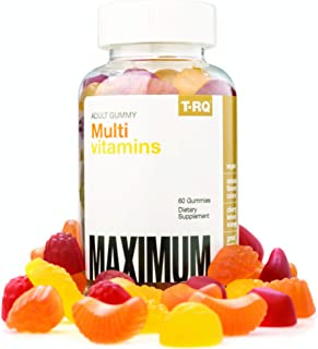 T.RQ Adult Multivitamins Gummy Supplement, Lemon/Orange/Cherry, 60 Count