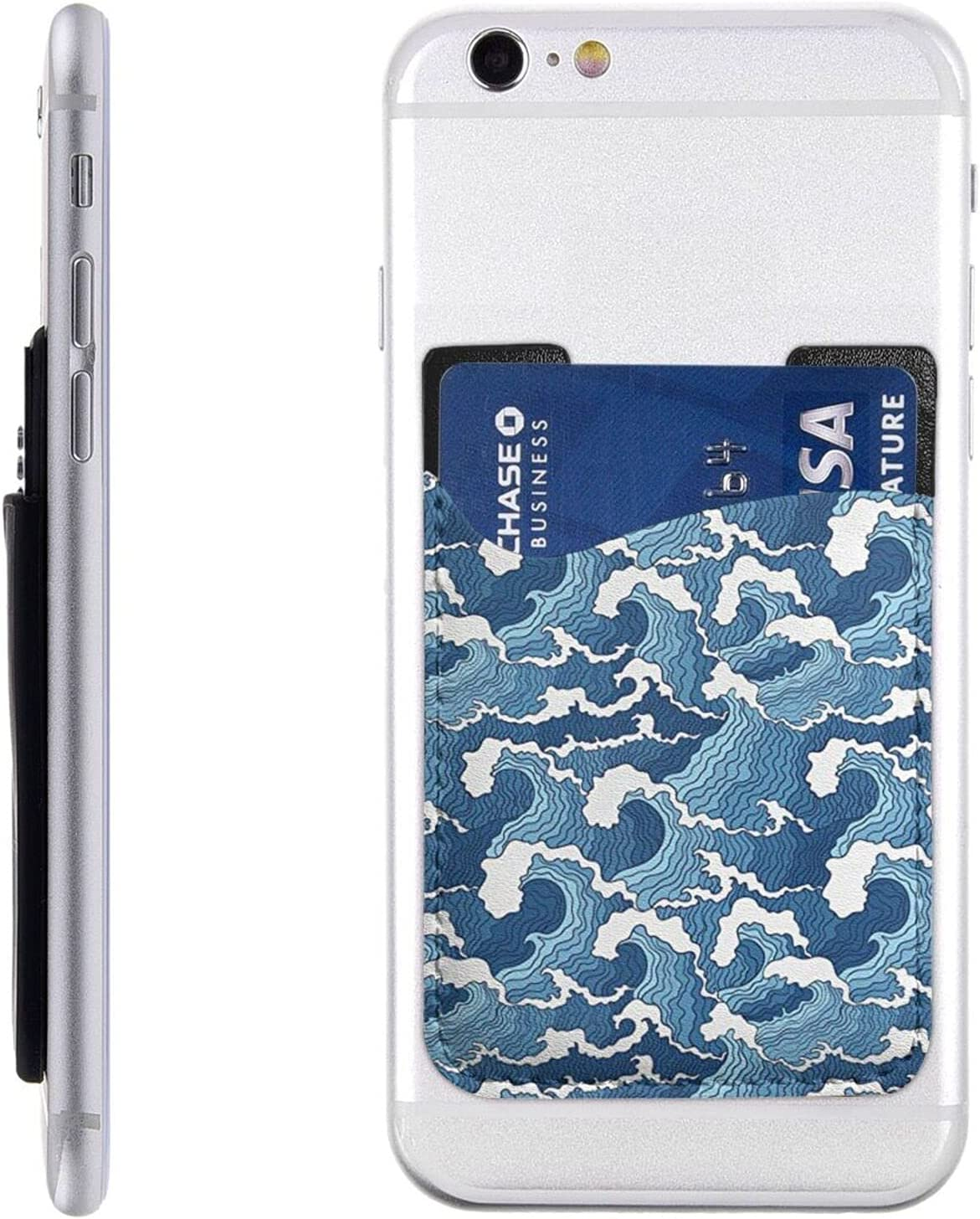Stormy Sea Phone Card Holder Wallet On Sle Stick Cell Outlet SALE mart