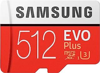 Samsung EVO Plus 512GB microSDXC UHS-I U3 100MB/s Full HD & 4K UHD Memory Card with Adapter (MB-MC512HA)