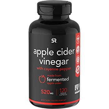 Apple Cider Vinegar Pills with Cayenne Pepper | Made from Organic Fermented Apple Cider | Non-GMO Project Verified & Vegan Certified (120 Veggie Capsules)
