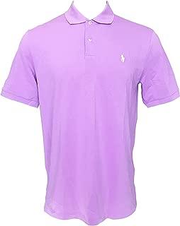Polo Golf Ralph Lauren Women's Slim Fit Mesh Polo Shirt Short Sleeve Polo Shirts (M, Purple)