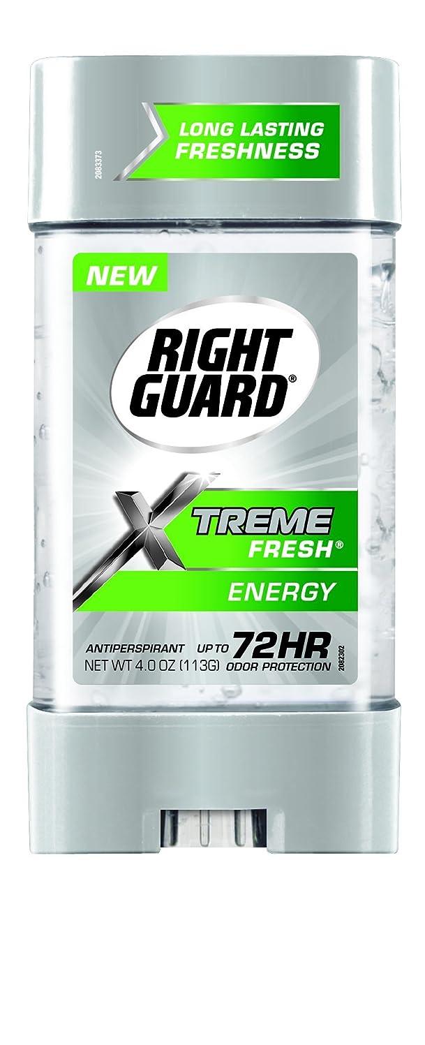 反論者フロンティア乱気流Right Guard Xtreme Fresh Invisible Gel Antiperspirant & Deodorant Energy(並行輸入品)
