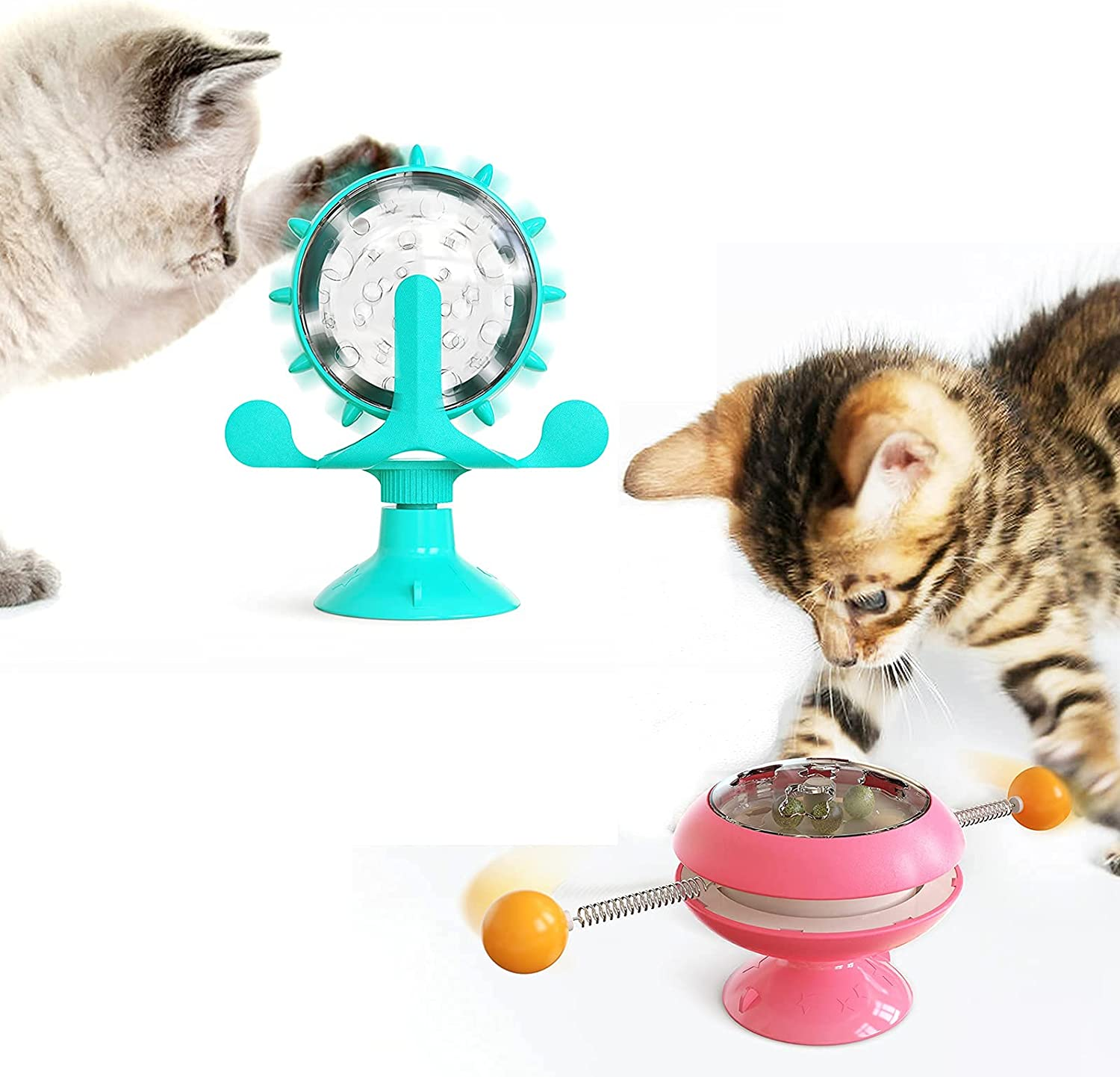 Cat Toys Interactive Ball Toy Shaped security GYRO Windmill C Rare