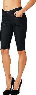 Women's Jean Look Cotton Blend Jeggings Tights Slimming Full Lenght Capri Bermuda Shorts Leggings Pants S-3XL