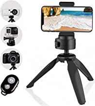 Heavy Duty Tripod, UBeesize Phone Camera Tabletop Mini Tripod Cell Phone Clip Holder,..