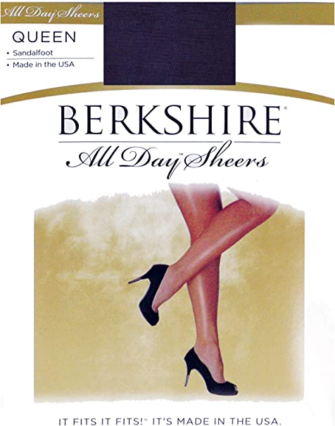 Sandalfoot 4417 Berkshire Womens Plus-Size Queen Silky Sheer Support Pantyhose