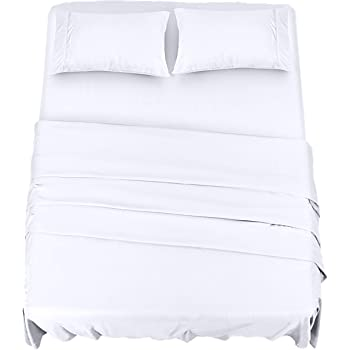 Utopia Bedding Bed Sheet Set - 4 Piece Queen Bedding - Soft Brushed Microfiber Fabric - Shrinkage & Fade Resistant - Easy Care (Queen, White)
