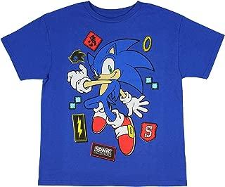Sonic The Hedgehog Shirt Icons Sega Video Game Boys T-Shirt