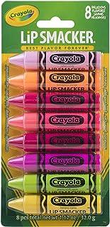 Lip Smacker - Crayola Lip Balm Party Pack, 8 Count - Set di Burrocacao Aromatizzati - 8 Pezzi
