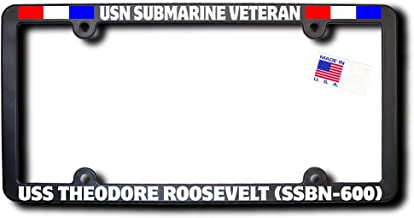 USN Submarine Veteran USS THEODORE ROOSEVELT (SSBN-600) License Frame W/RIBBONS