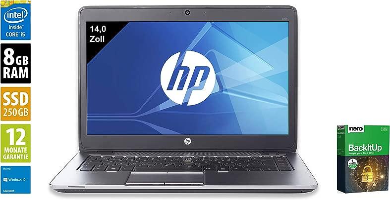 HP EliteBook 840 G2 Notebook Laptop 14 0 Zoll 1600x900 Intel Core i5-5300U 2 3 GHz 8GB DDR3 RAM 250GB SSD Webcam Windows 10 Home Zertifiziert und General berholt Schätzpreis : 359,99 €