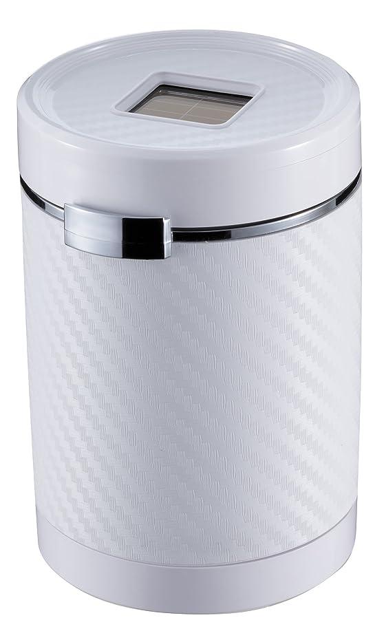 作り闘争アナウンサーナポレックス 車用 灰皿 Fizz クリッククリーンアッシュ ドリンクホルダー型 カーボン調ホワイト LED付 汎用 Fizz-1022