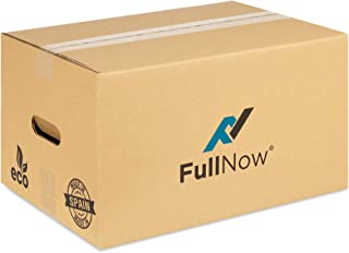 FULLNOW Pack 20 Cajas Cartón con Asas para Mudanza y