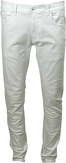 M. Society Men's Skinny Stretch 5 Pockets Twill Jean, White, 32