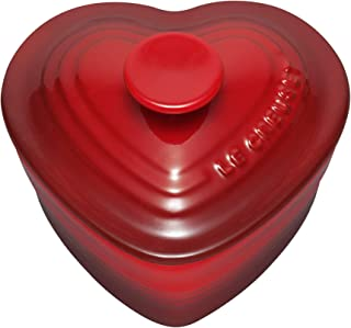 Le Creuset Stoneware Heart Ramekin with Cover, Red