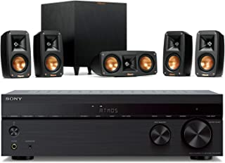 Klipsch Reference Theater Pack 5.1 Surround System Bundle with Sony STR-DH790 7.2-Channel AV Receiver (4K HDR, Dolby Visio...