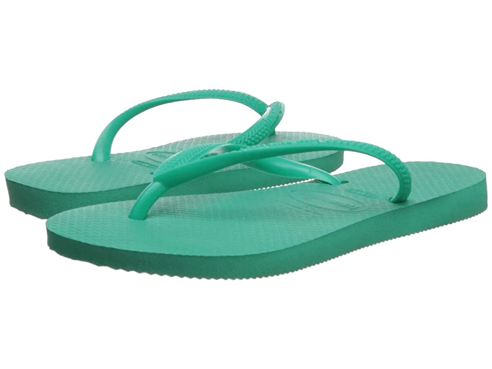 Havaianas Kids Slim Flip Flops (Toddler/Little Kid/Big Kid) (Mint Green) Girls Shoes