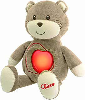 Chicco Sweetheart Bear Soft Toy [Brown, Red and White]