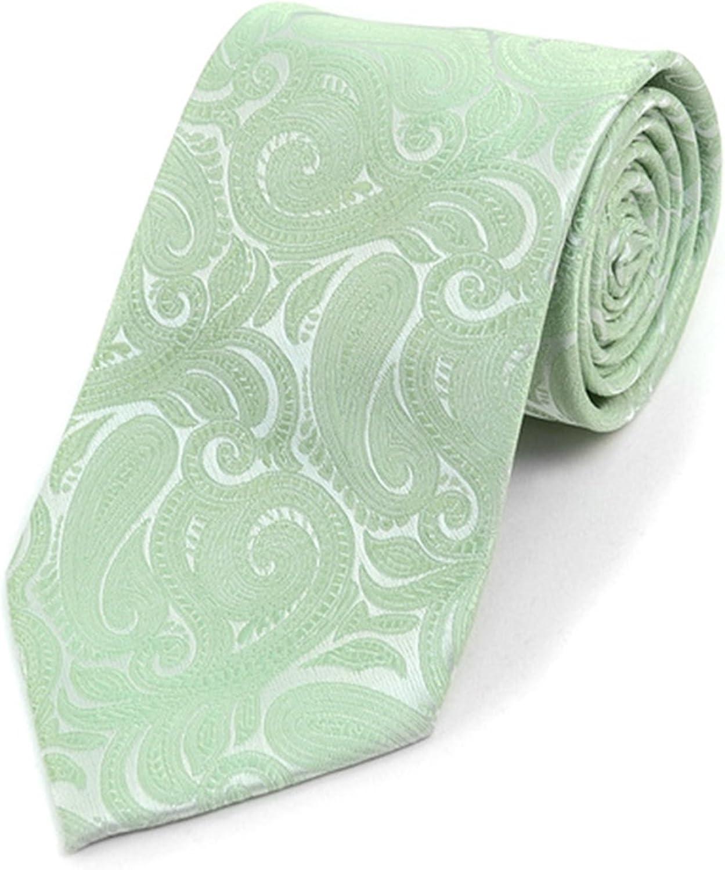 Men's Paisley Microfiber Woven Wedding Neckties