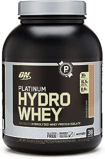 OPTIMUM NUTRITION Platinum Hydrowhey Protein Powder, 100% Hydrolyzed Whey Protein Isolate Powder, Flavor: Red Velvet Cake, 3.5 Pounds