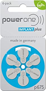 120 x Size p675 PowerOne IMPLANT Plus Cochlear Hearing Aid Batteries
