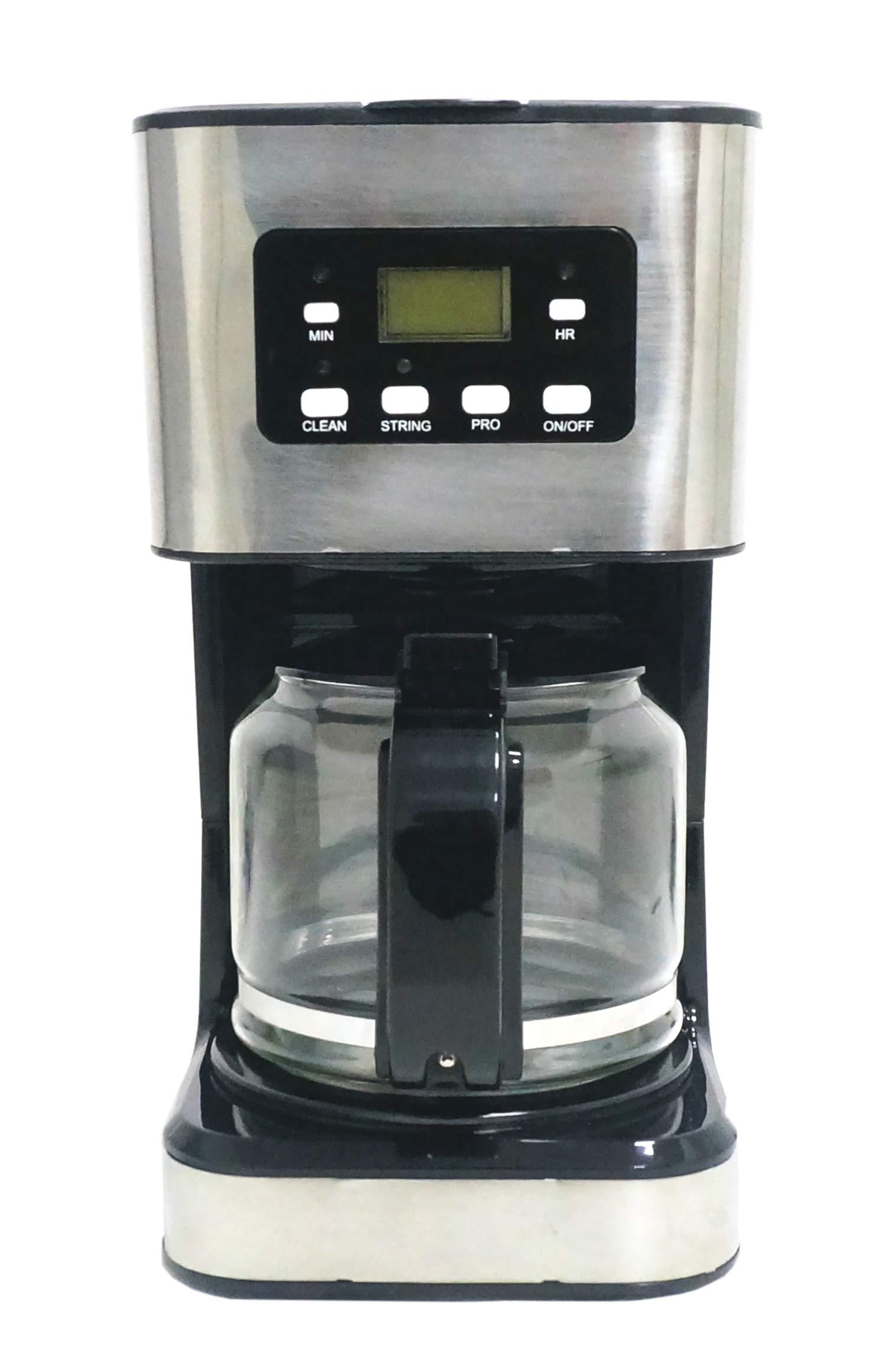 Family Care Cafetera de Goteo, Cafetera Eléctrica, Jarra 1.5 Litros para 12 Tazas, Acero Inoxidable y Plástico, Color Negro, 950 W: Amazon.es: Hogar