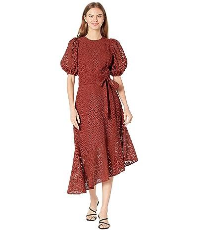Ted Baker Belllaa Puff Sleeve Midi Broderie Dress