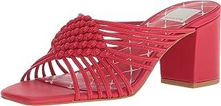Dolce Vita Women's Delana Slide Sandal, RED Leather, 6.5 M US