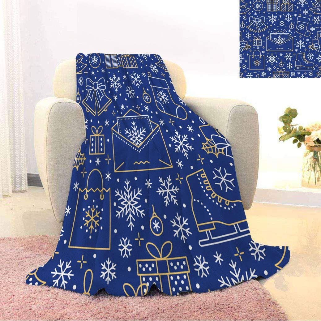 Christmas Decor Warm Print Blankets Pattern Illus New Line Large special price Genuine Year