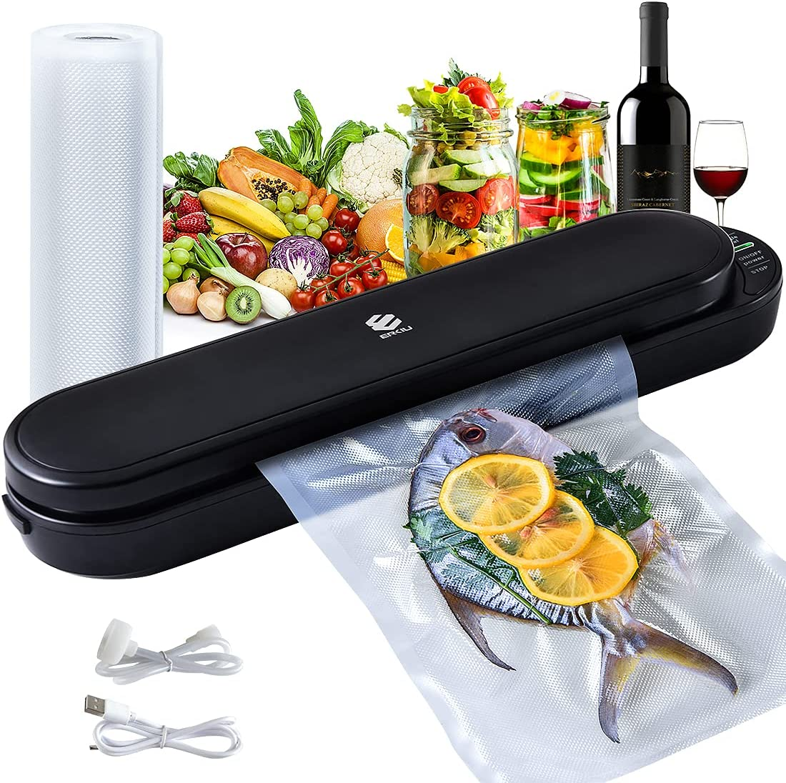 Cordless Vacuum Sealer Machine ERKIU S Sealing Air New mail order Food Max 69% OFF