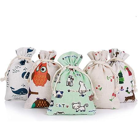 20 sac en coton sac en toile de jute naturel sac sac en toile sac en tissu bijoux Sacs cadeaux