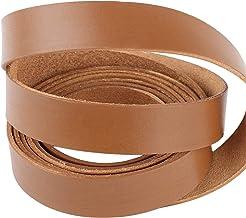 Flach ca Echtlederband Lederstreifen Lederband Lederriemen 4cm Breite G/ürtelleder 34 Farben und 9 L/ängen
