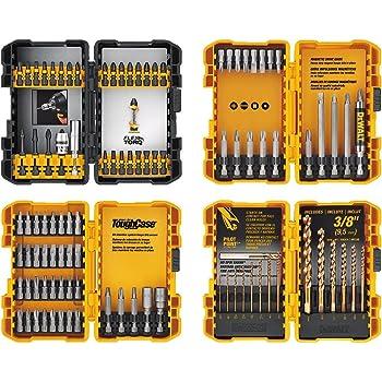 DEWALT Screwdriver Bit Set / Drill Bit Set, 100-Piece (DWA2FTS100),Black/Grey/Yellow Screwdriving and Drilling Set, 100 Piece