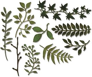 Sizzix 661206 Garden Greens par Tim Holtz Outil de Scrapbooking Thinlits Die Plastique Multicolore 19,10 x 14,4 x 0,4 cm 9...