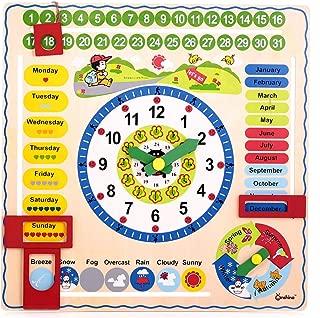 Canoe Wooden Clock/Calendar/Weather Board Toy - CT181216RJ92