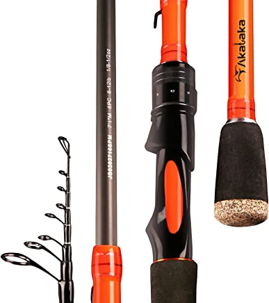 Akataka J'Special Telescopic Fishing Rod - Retractable...