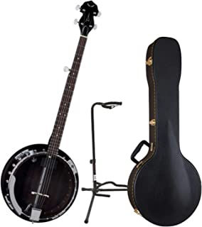 Dean BW2E Backwoods Electric Banjo w/Case and Stand