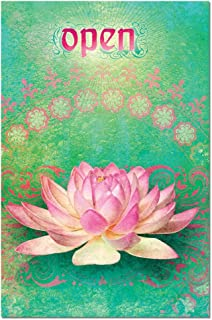 Open Lotus Flower Blank Boxed Note Cards with Envelopes, All Occasion (12 Count), Inspirational Zen Stationery Notecards FS66552 Tree-Free Greetings