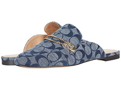 COACH Sawyer Sig Slide Loafer (Chambray) Women