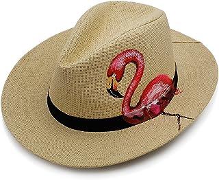 قبعة بنما من القش للوقاية من الأشعة فوق البنفسجية قبعة شمس للسفر شاطئ البحر قبعة رسم يدوي قبعات بنما للرجال والنساء