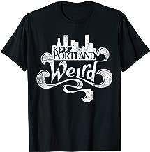 Keep Portland Weird City Skyline Backbreaker T-shirt
