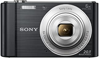 Sony DSC-W810 Compact Camera with CMOS Sensor, BIONZ, 20.10 MP, 6x Optical Zoom, Black