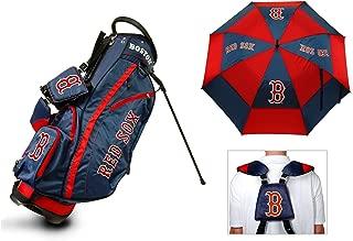 Team Golf MLB Bag & Umbrella Bundle | Includes Fairway Golf Stand Bag, 62