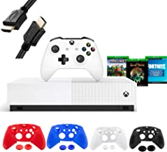 Best Microsoft Xbox One S 1TB All-Digital Edition Disc-free Console with Wireless Controller, Codes for Minecraft, Sea of Thieves, Fortnite Battle Royale, 1-month Live Gold Card- iPuzzle 4 Covers+ 6FT HDMI Review