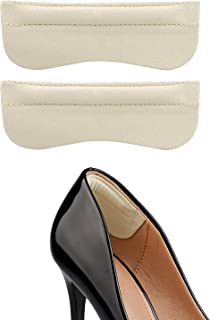 New Heel Grip for Women High Heel Sticker for Shoes Too Big Shoes Filler Heel Liner for Leather Shoes 6 Pieces (Beige)