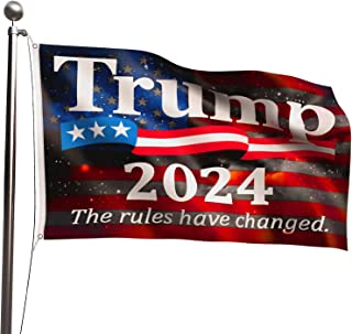VWMYQ Trump Flag 2024, 3x5 Feet TheRulesHaveChanged Flags, Re-Elect Trump 2024 - 100% Durable Polyester with Brass Grom...